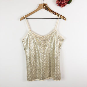 [BANANA REPUBLIC] Silver & Gold Sequin Camisole